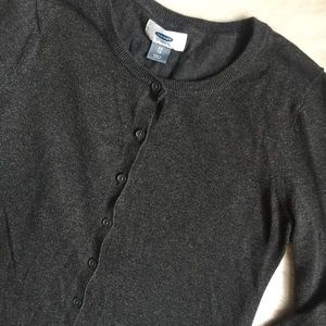 Old Navy Glitter Knit Gray Cardigan